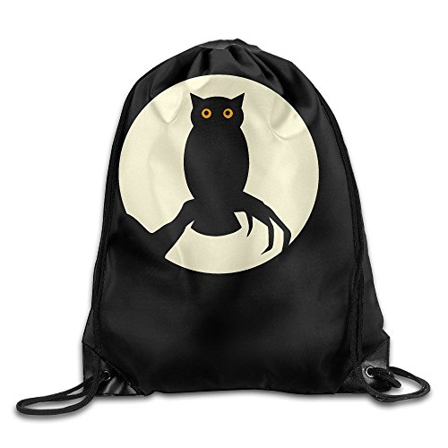 Halloween Spooky Owl Folding Sport Backpack Drawstring Bag Customize Fashion - Creative Homemade Costumes Halloween