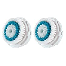 LSQtronics Deep Pore Facial Cleansing Brush Heads for Clarisonic. Face Cleansing Brush Heads for Daily Skin Care. Compatible with Clarisonic MIA, MIA 2, ARIA, PRO and PLUS Cleansing Systems. (2-Pack Brush Head for Deep Pore Facial Cleaning)