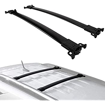 AUTEX Aluminum Roof Rack Crossbars Luggage Carrier Rail Rack Compatible with 2010 2011 2012 2013 2014 2015 2016 2017 Chevrolet Equinox GMC Terrain Cross Bars Rack Roof Top Cargo Carrier Bars