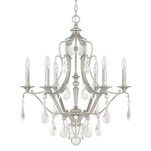 Capital Lighting 4186AS-CR Six Chandelier