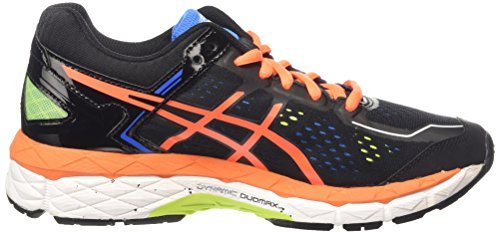 ASICS - Gel-kayano 22 Gs, Zapatillas de Running Niños Negro (black/hot Orange/electric Blue 9030)