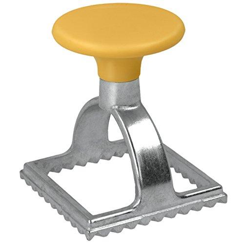 Metaltex, tagliapasta per ravioli, forma quadrata, argento/giallo 252325080