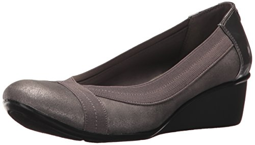 Ak Anne Klein Womens A Day (AK Anne Klein Sport Women's Dani Synthetic Pump, Pewter, 5.5 M US)