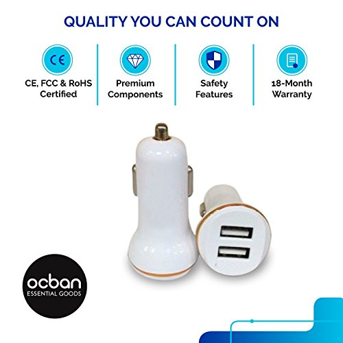 Dual USB Car Adapter Charger Sync Premium Components Strong Portable Sleek Affordable Icharge Devices Phones Notebooks Tablets Ipads Iphone Ipod Mp3 Mp4 2 USB The Best Top Quality Great Price Ocban