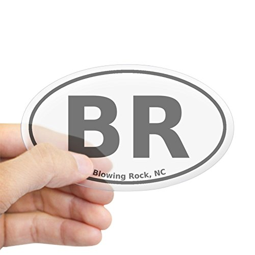 CafePress - Blowing Rock, NC Euro - Oval Bumper Sticker, Euro Oval Car - Of Rock Blowing Nc City
