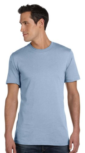 Canvas mens Unisex Jersey Short-Sleeve T-Shirt(3001C)-BABY BLUE-L