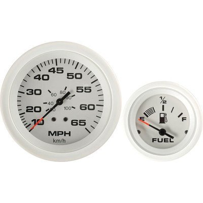 Sierra International Arctic 4 Gauge Outboard Set Includes Speedometer, Tachometer, Voltmeter & Fuel Gauges by Sierra International