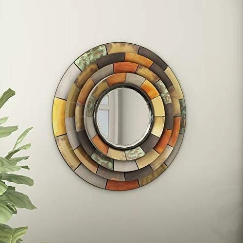Bathroom Mirror,Classic Hanging Mirror Retro Simple Wall Hanging Mirror Bathroom European Decorative Round Mirror 78 78cm