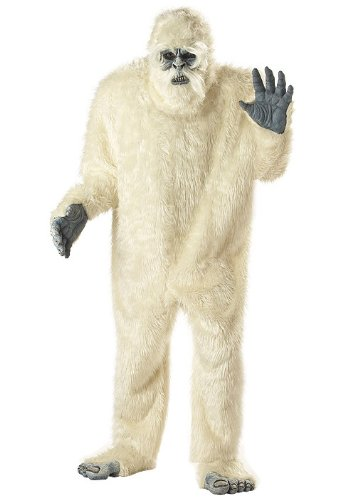 Abominable Snowman Costumes (california costumes men's plus-size full faux fur abominable snowman suit costume in plus, white, plus size)
