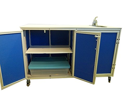 Monsam PSE-2046 Mobile Demo Table with Self-Contained Sink, Blue by Monsam Enterprises