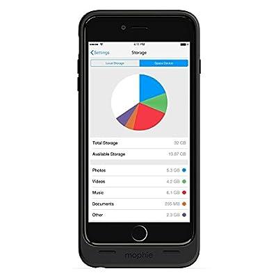 mophie spacepack with built-in 32GB storage for iPhone 6 Plus/6s Plus (2,600mAh) - Black (Certified Refurbished)