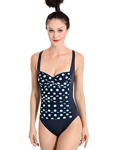 ZQ Valtos Splash Retro de la mujer traje de baño de una pieza, blue-xl, extra-large black-xl