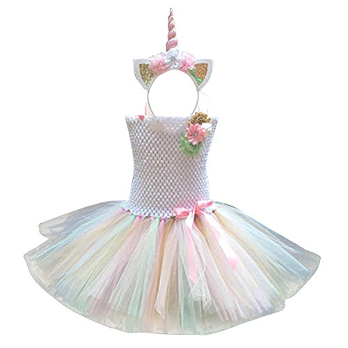 Freebily Girls Cartoon Skirt and Headband Cosplay Costume