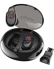 Bluetooth Kopfhörer Vigorun Mini In-Ear Ohrhörer Kabellos Stereo Sport-Kopfhörer Funk-Kopfhörer mit 500mAh Ladebox und Mikrofon, IPX5 Wasserdicht, für iOS und Android