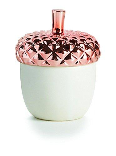 Illume, Candle Ceramic Copper Leaves Acorn