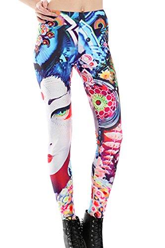 Girls Mid Waist Street Style Daily Wear Party Disco Dancing Costume Pants Leggings L Beauty (Disco Wear For Kids)