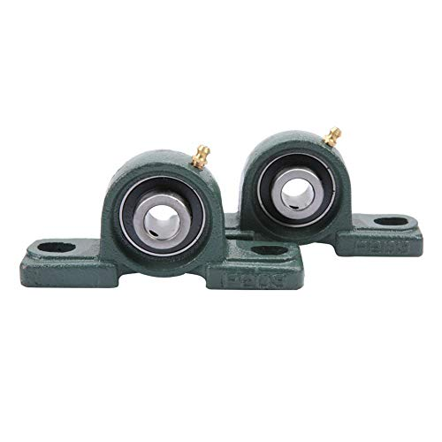 Pillow Bearing, 2pcs UCP202 Pillow Block Bearing Ball Mounted Bearing Cast Housing OD 40mm ID 15mm ()