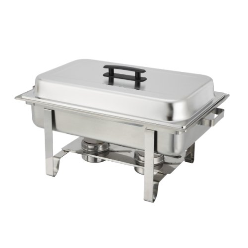 3 Newburg Chafer C-3080B - 8 qt Oblong Stainless Steel Winco by Winco