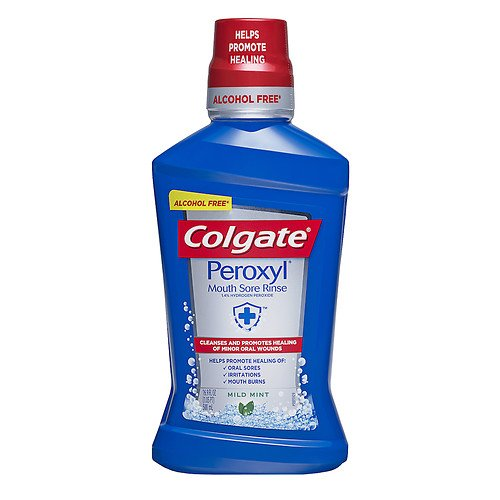 Colgate Peroxyl Mouth Sore Rinse, Mild Mint, 16.9 oz (Pack of 2)