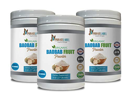 antioxidant Extreme - Baobab Fruit Organic Powder - Digestive Organic - 3 Cans 24 OZ (150 Servings) by PRIVATE LABEL LLC (Image #7)