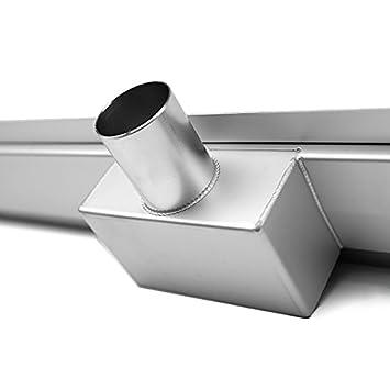 Edelstahl Duschrinne 90cm Ablaufrinne Bodenablauf Siphon mit Geruchsstop Bodenbefestigung Ma/ße von 50 bis 150cm w/ählar