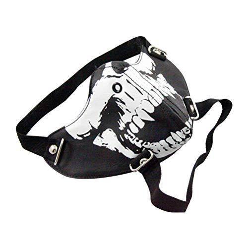 LUOEM Skull Mouth Mask Fashion Luminous Skull Printed
