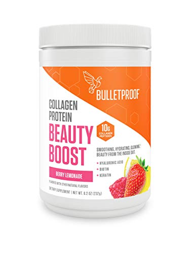 Bulletproof Beauty Boost with Grass-fed Collagen Peptides and Hyaluronic Acid Plus Biotin, Vitamin C, Keratin to Support Beautiful Hair, Skin and Nails, Keto and Paleo Friendly (8.2 OZ)