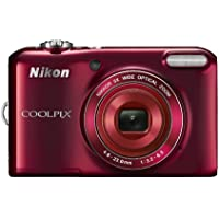 Nikon COOLPIX L28 20.1 MP Digital Camera with 5x Zoom Lens and 3' LCD (Red) (OLD MODEL)