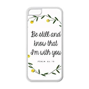 diycover iPhone 5C Case - Christian Theme - Psalm 46:10 - Best Durable Cover Case
