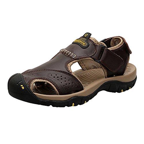 Libre Sandalia Aire C2 Cueroal Pescador Verano Hombre 3 Sandalias Los Hebilla Ajustable Zapatos Playa Colores Antideslizante x7XqnYp