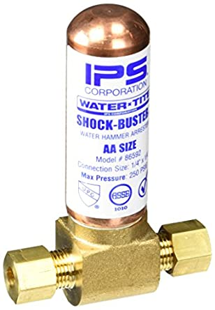 Ips 86592 Shock-Buster Water Hammer Compression Tee Arrestor, Lead Free,  1/4