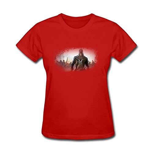 Zhige Assassins Creed Syndicate Scene Women T-shirt Red XXL