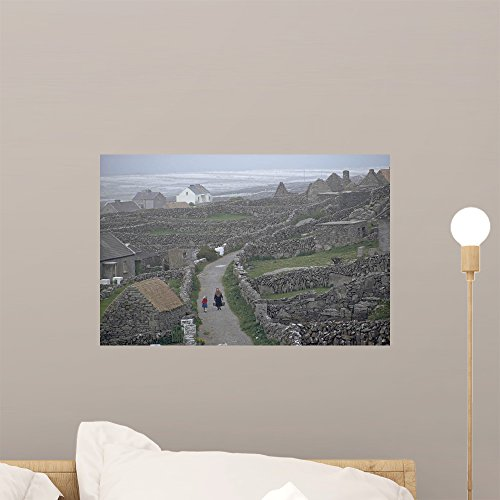 Stone Walls Honeycomb Pastures Wall Mural by Wallmonkeys Peel and Stick Graphic (18 in W x 12 in H) WM109693
