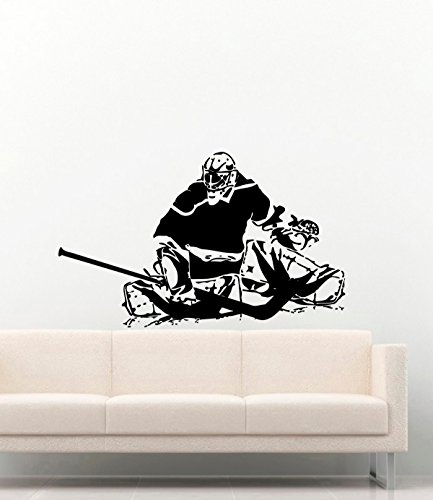 Sport Vinyl Wall Decals Hockey Goalie Goalkeeper Vinyl Decor Stickers Murals Vinyl MK4263