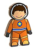 Storklings Spaceman Space Toy Boys Bedroom Shelf Decoration Orange Astronaut Suit and Rocket Gifts for Nursery