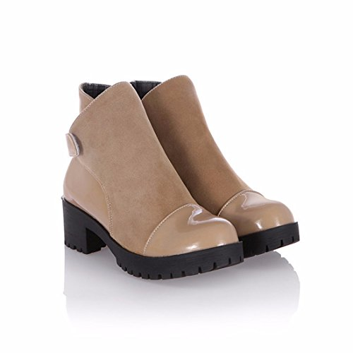 Short Martin boots in big size women's shoes Camel OnOMyzym