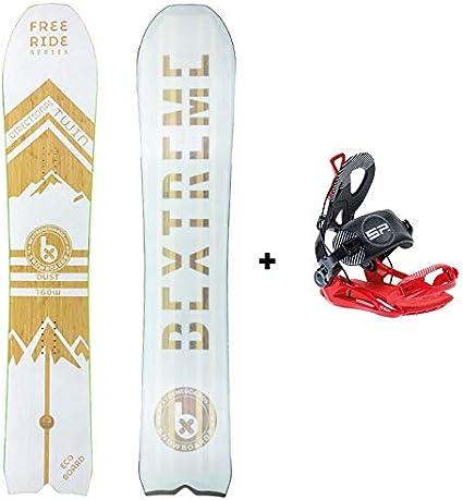 Bextreme Pack Tabla Snowboard Freeride Dust 160cm con Fijaciones ...