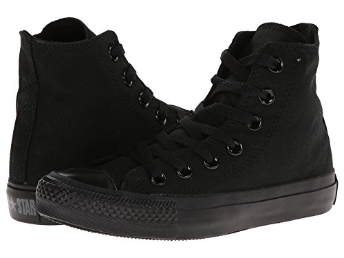 Converse Unisex Chuck Taylor All Star High Top Sneakers Optical White (12 B(M) US Women / 10 D(M) US Men, Black Monochrome)