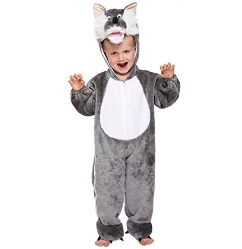 [Girls Boys Kids Child's Big Bad Wolf Book Day Halloween Fancy Dress Costume Outfit 3 years by Fancy] (Big Bad Wolf Outfit)