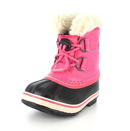 Yoot Pac Snow Boot (SOREL Kids' Childrens Yoot Pac Nylon-K Snow Boot, Haute Pink, 9 M USToddler)