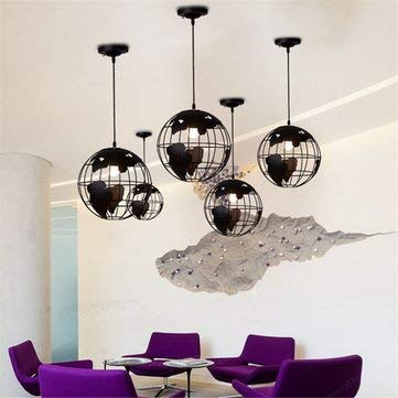 World Map Globe Pendant Chandelier Hanging Lamp Home Office - Indoor Lighting Chandeliers & Pendants - 1 x Globe Light (Not including the bulb)
