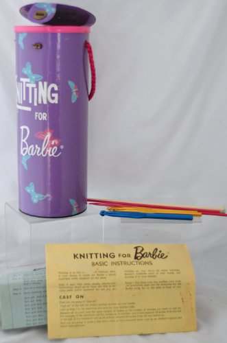 Vintage KNITTING FOR BARBIE CASE and NEEDLES - Set - 1962