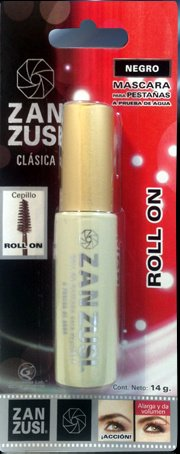 ZAN ZUSI Waterproof Black Roll On Mascara 14g From Mexico