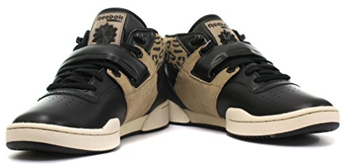 Reebok Classic Workout Mid Strap XE Herren Sneakers, Schwarz