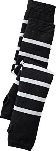 ocks. DV0359 S/M Black / White (Cotton Striped Gloves)