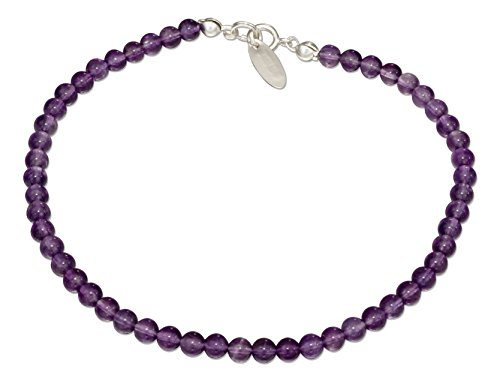 (Sterling Silver 9 inch Beaded Amethyst)