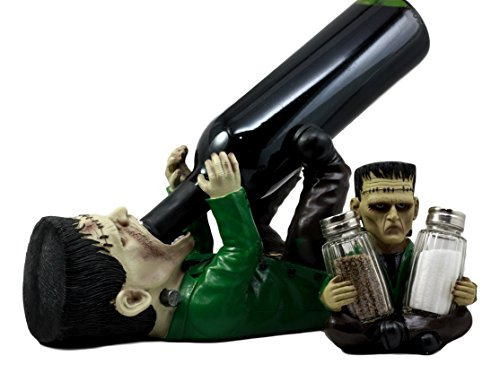Ebros Prometheus Doomsday Dr Victor Frankenstein Wine Holder Figurine 10.25