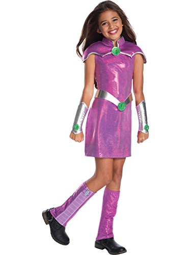 Rubie's Costume Girls DC Superhero Deluxe Starfire Costume, Large, Multicolor ()