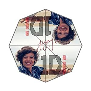 RainbowRain Generic Easy Carry With Auto Foldable Rainy / Sunny Gifts Totes Compact Umbrella - One Direction Harry Sunshine Smile Close Up Design