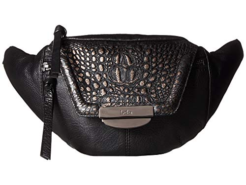 - Kooba Women's Panama Belt Bag Black/Metallic Black Croco One Size